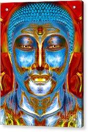 Tranquil Buddha Acrylic Print by Khalil Houri