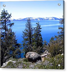 Tranquil Lake Tahoe Acrylic Print