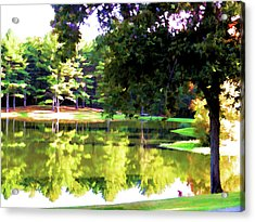 Tranquil Landscape At A Lake 1 Acrylic Print
