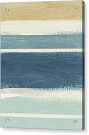 Tranquil Stripes- Art By Linda Woods Acrylic Print