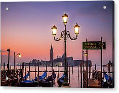 Acrylic Print featuring the photograph Tranquil Venice by Andrew Soundarajan