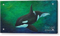 Acrylic Print featuring the painting Tranquile Force by Phyllis Howard