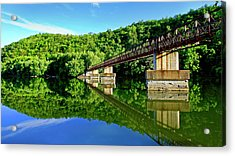Tranquility At The James River Footbridge Acrylic Print