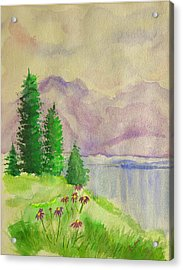 Acrylic Print featuring the painting Tranquility by Dolores  Deal