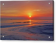 Acrylic Print featuring the photograph Tranquility - Florida Sunset by HH Photography of Florida