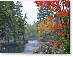 Acrylic Print featuring the photograph Autumn Tranquility by Glenn Gordon