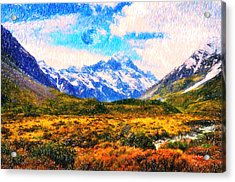 Tranquility In The Highlands Acrylic Print by Celestial Images
