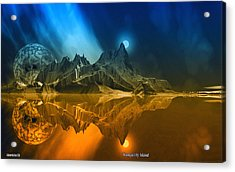 Tranquility Island. Acrylic Print by David Jackson