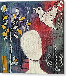 Acrylic Print featuring the mixed media Tranquility by Mimulux patricia no No