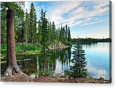 Tranquility - Twin Lakes In Mammoth Lakes California Acrylic Print