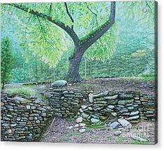 Acrylic Print featuring the painting Tranquillity by Mike Ivey