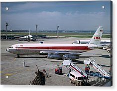 Trans World Airlines Twa Boeing 707 N780tw Acrylic Print by Wernher Krutein