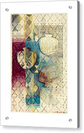 Acrylic Print featuring the painting Trans Xs No 1 by Kerryn Madsen- Pietsch