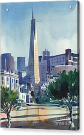 Transamerica Building Acrylic Print by Donald Maier