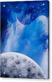 Transcendental Moon Acrylic Print by Lee Pantas