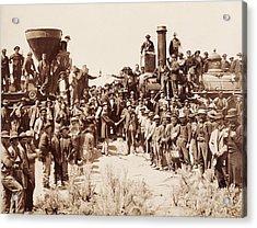 Transcontinental Railroad - Golden Spike Ceremony Acrylic Print