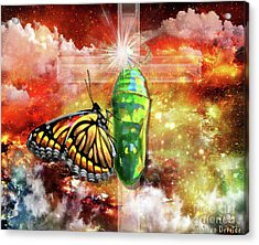 Acrylic Print featuring the digital art Transformed By The Truth by Dolores Develde