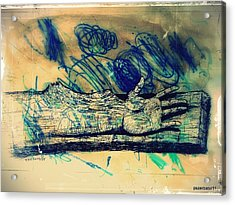 Transforming A Piece Of Wood In Man Acrylic Print by Paulo Zerbato