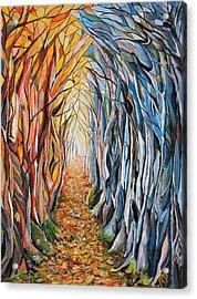 Transition Of Autumn Acrylic Print