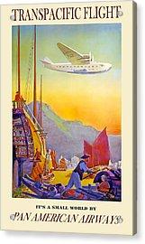 Transpacific Flight Pan American Airways Acrylic Print by David Wagner