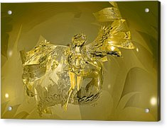 Transparent Gold Angel Acrylic Print