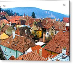 Transylvania Rooftops Acrylic Print