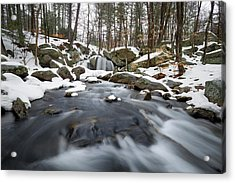 Acrylic Print featuring the photograph Trap Falls Winter by Brian Hale