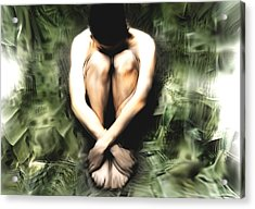 Traped Man Acrylic Print by Naikos N