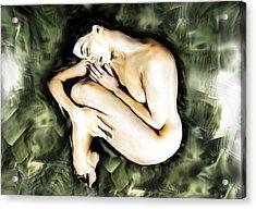Traped Woman Acrylic Print by Naikos N