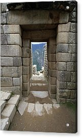 Acrylic Print featuring the photograph Trapezoidal Door, Machu Picchu, Peru by Aidan Moran