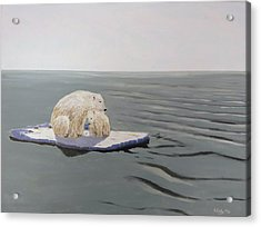 Acrylic Print featuring the painting Stranded by Kevin Daly