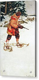 Trapper With Wolves Acrylic Print
