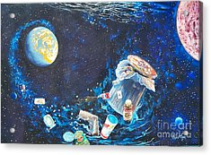 We Loved Earth At One Time - Yes We Did. Acrylic Print