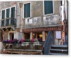 Trattoria Dona Onesta In Venice, Italy Acrylic Print