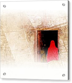 Travel Exotic Women Portrait Mehrangarh Fort India Rajasthan 1a Acrylic Print
