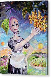 Travel Log 13  Finding Plethora Oil Painting Acrylic Print