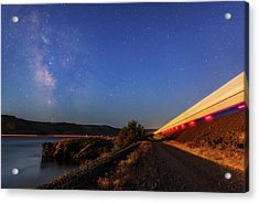 Acrylic Print featuring the photograph Traveling At The Speed Of Light by Cat Connor