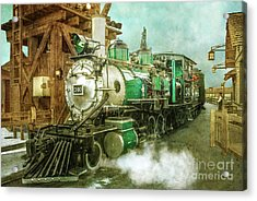 Traveling By Train Acrylic Print by Claudia Ellis