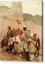 Traveling In Persia Acrylic Print by Edwin Lord Weeks