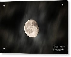 Travelling With Moon Acrylic Print by Manjot Singh Sachdeva