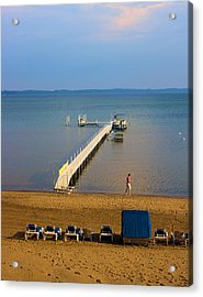 Traverse City East Bay Acrylic Print by Don  Vella