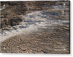 Acrylic Print featuring the photograph Travertine Stairsteps by Charles Kozierok