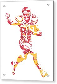 Travis Kelce Kansas City Chiefs Pixel Art 6 Acrylic Print