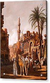 tre cammelli in Egitto Acrylic Print