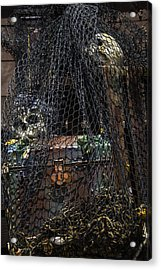 Treasure Chest In Net Acrylic Print by Garry Gay