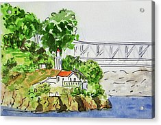 Treasure Island - California Sketchbook Project  Acrylic Print by Irina Sztukowski