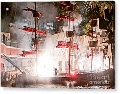 Treasure Island Flashes Acrylic Print by Andy Smy
