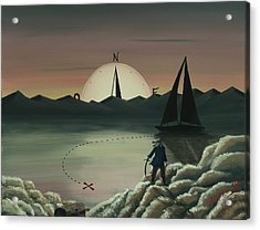 Treasure Path Acrylic Print by Edwin Alverio