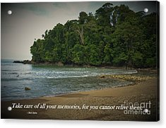 Treasure Your Memories Acrylic Print