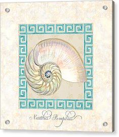 Treasures From The Sea - Nautilus Shell Interior Acrylic Print by Audrey Jeanne Roberts
